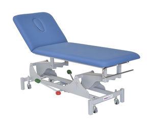 lettino da visita idraulico / ad altezza regolabile / con rotelle / 2 sezioni