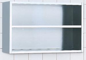 armadio per ospedale / in acciaio inossidabile / a muro