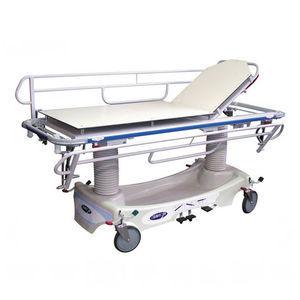 barella con carrello manuale / ad altezza regolabile / radiotrasparente / per traumatologia