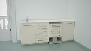 banco da laboratorio odontoiatrico / per sterilizzazione / con lavandino / modulare