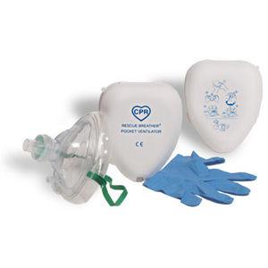 maschera a ossigeno / per rianimazione / bocca a bocca / facciale