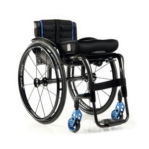sedia a rotelle attiva / da esterno / da interno / con poggiagambe