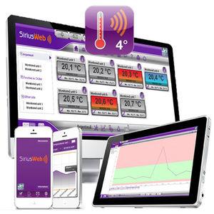 applicazione web per il monitoraggio della temperatura / di gestione / di archiviazione / per reportistica