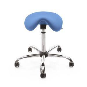 sgabello ad altezza regolabile / con rotelle / a forma di sella