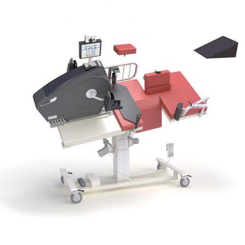 lettino da visita per ecocardiografia / elettrico / ad altezza regolabile / con rotelle