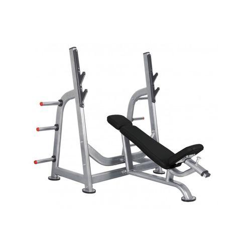 panca per esercizi muscolari inclinata / con rastrelliera per bilancieri
