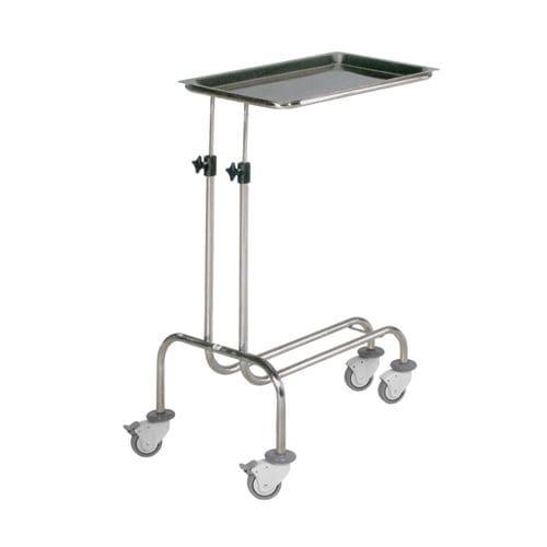 tavolo di Mayo con freno / con rotelle / ad altezza variabile / in acciaio inossidabile