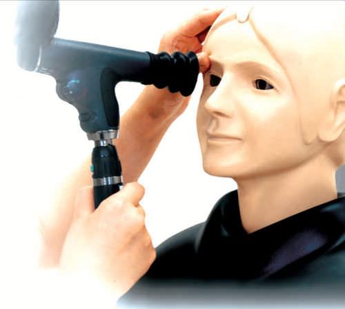 manichino didattico per cure oftalmiche
