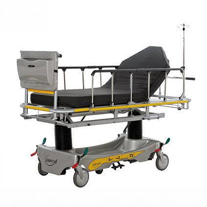 barella con carrello idraulica / ad altezza regolabile / con schienale regolabile / radiotrasparente