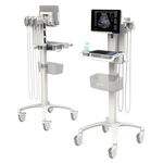 ecografo portatile con carrello / per ecografia in anestesia e terapia intensiva / per echografia in medicina d'emergenza / bianco e nero