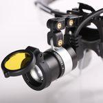 lampada frontale odontoiatrica / LED / con batteria ricaricabile / con fonte di luce portatile