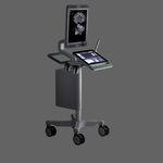 ecografo su piattaforma compatto / per ecografia urologica / bianco e nero / touch screen