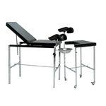 lettino da visita ginecologico / manuale / ad altezza regolabile / con schienale regolabile