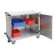 carrello per chirurgia / di trasporto / per materiale sterile / con porta