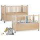 letto pediatrico / per cure domiciliari / meccanico / ad altezza regolabile