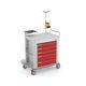 carrello di emergenza / di stoccaggio / per defibrillatore / con portabombola di ossigeno