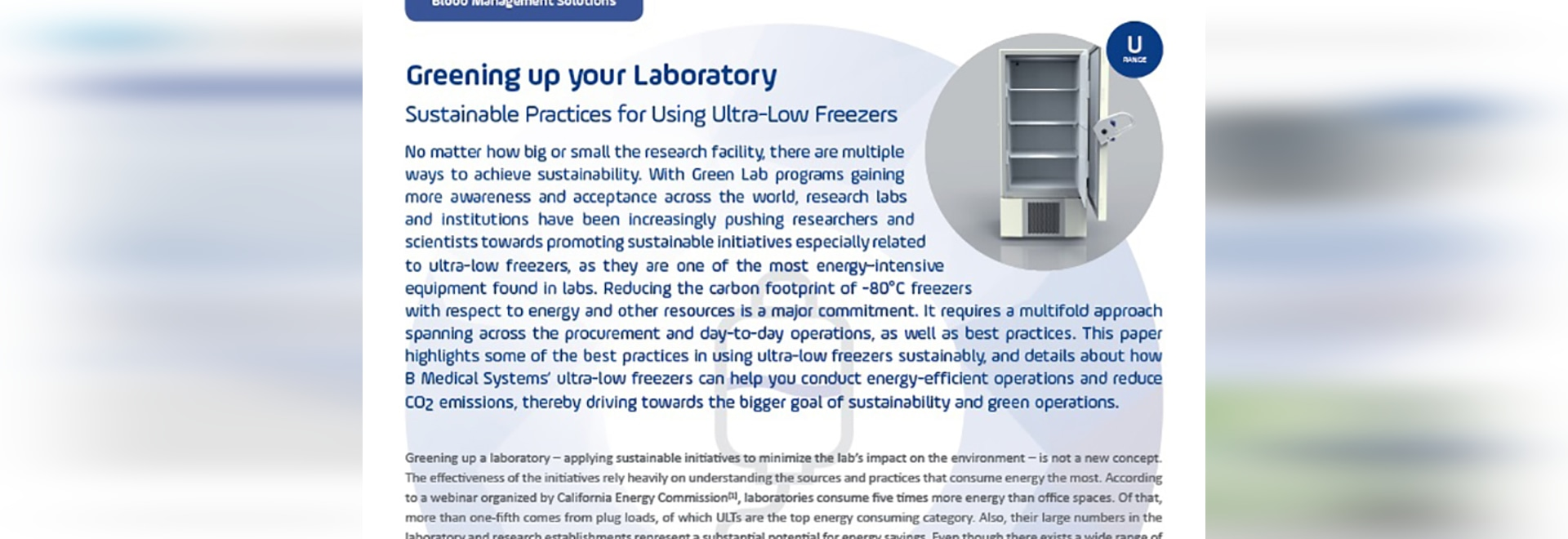 Rendere più verde il vostro laboratorio