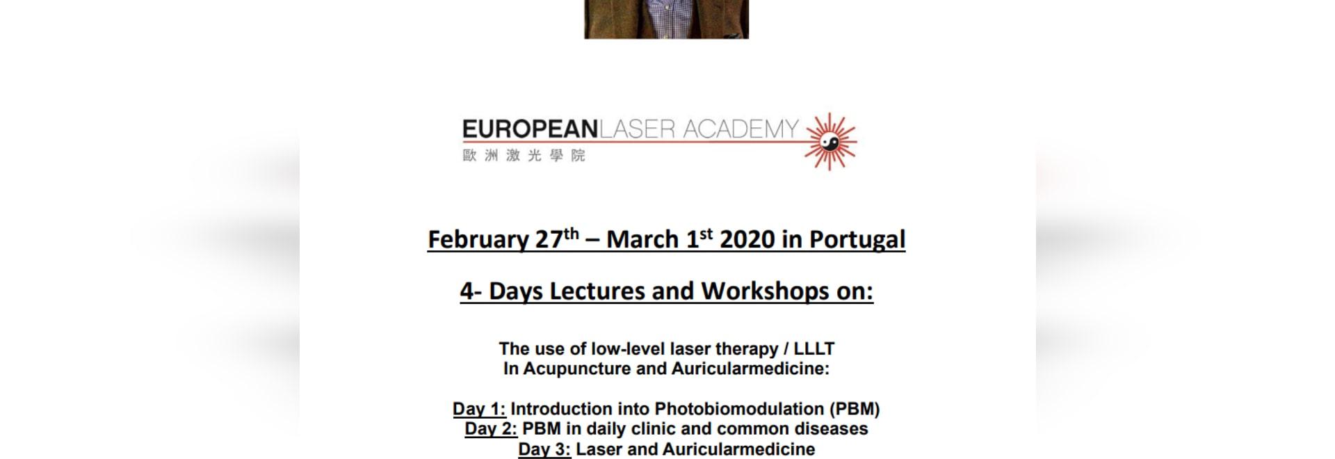 Seminario Laser ad Algarve Portogallo dal 27 febbraio al 01 marzo, a cura del Dr. Michael Weber MD CM CM Acup Laser Specialist dalla Germania.