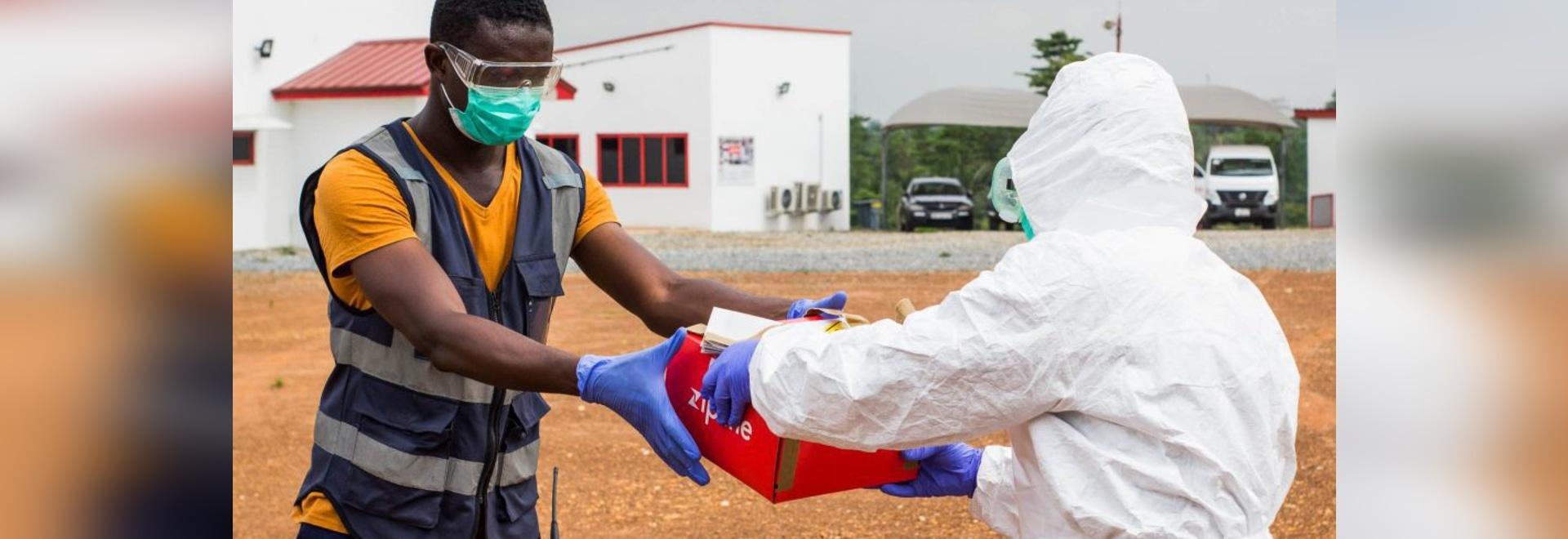 Zipline sta consegnando i campioni di prova COVID-19 in Ghana.
