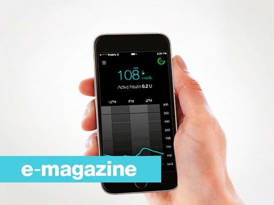 Dati pazienti del diabete direttamente osservabili su uno smartphone