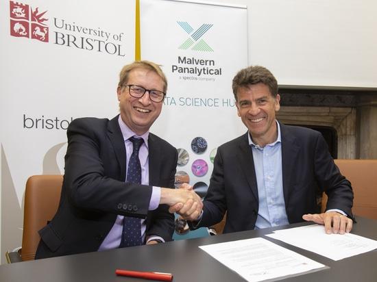 Collaborazione tra l'Università di Bristol e Malvern Panalytical per potenziare la scienza dei dati e le tecnologie digitali