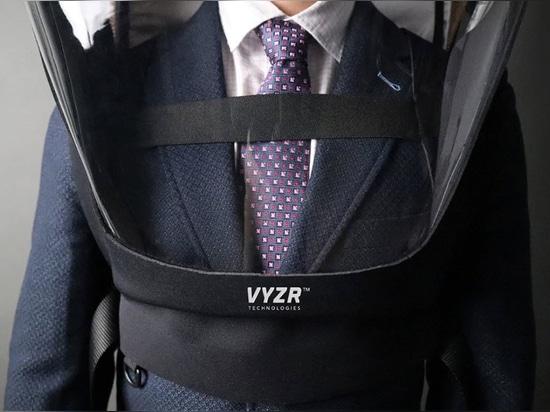 BioVyzr è uno scudo portatile e un purificatore d'aria