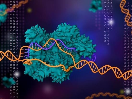 Illustrazione 3D della tecnologia di editing genico CRISPR