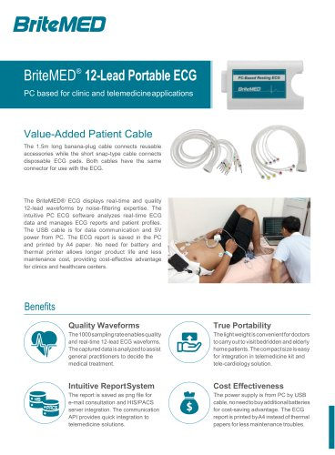 BriteMED Clinic PC ECG_ECG-D12-10BI