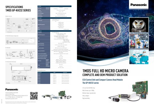 Panasonic complete 1MOS Micro Camera solution
