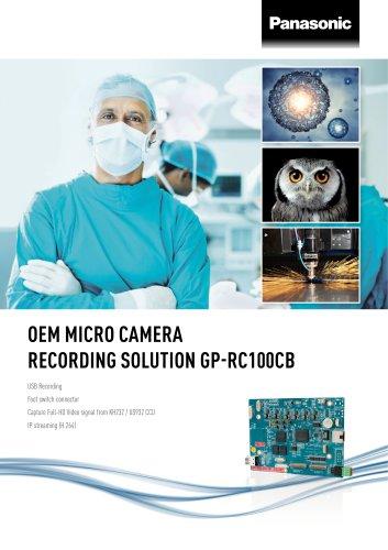 Panasonic IMV OEM Micro Camera Recording Solution Brochure