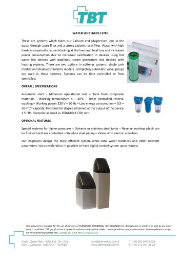 Water Softeners Flyer
