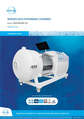MO-70 Monoplace Hyperbaric Chamber