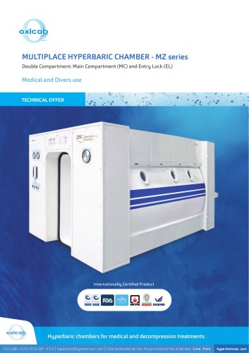 Multiplace Hyperbaric Chamber for Divers - MZ series
