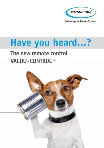 VACUU·CONTROL® - Remote Control