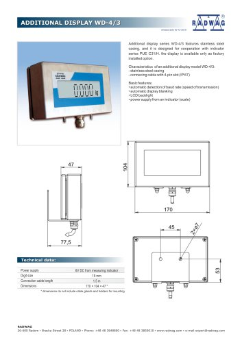 ADDITIONAL DISPLAY WD-4/3