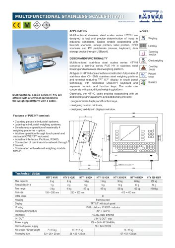 MULTIFUNCTIONAL STAINLESS SCALES HTY/H