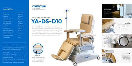 YA-DS-D10 Comfortable Dialysis Chair