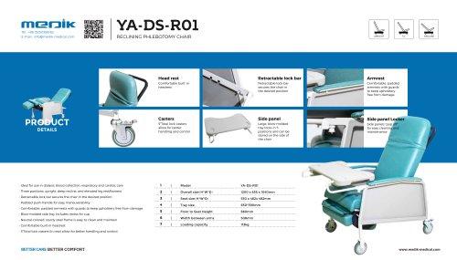 YA-DS-R01 Reclining Phlebotomy Chair
