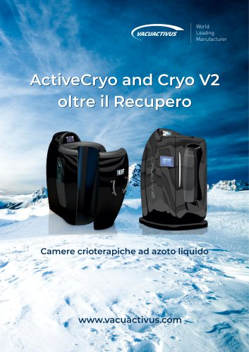 Catalog of cryotherapy chambers It