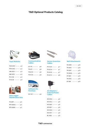 T&D Optional Products Catalog