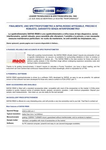 SAFAS IR600