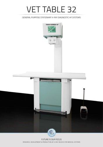 VET TABLE 32KW Veterinary X-ray system digital / analogic