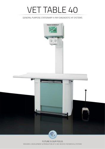 VET TABLE 40KW Veterinary X-ray system digital / analogic