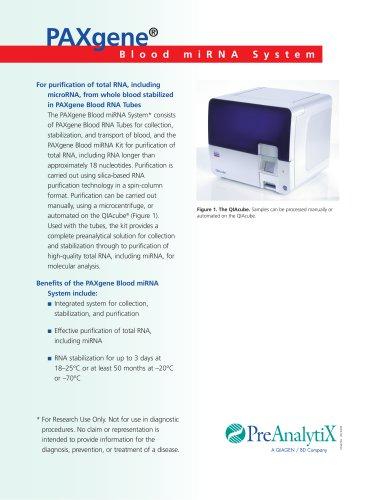 PAXgene Blood miRNA Kit Brochure
