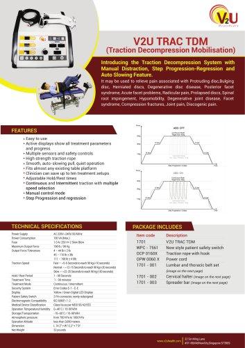 V2U TRAC TDM (Traction Decompression Mobilisation)