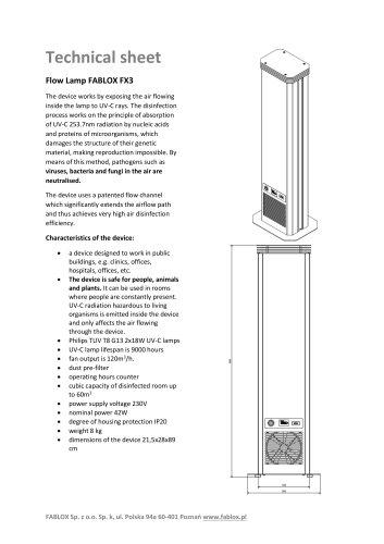 Technical sheet FX3