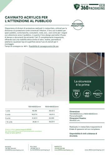 CAVINATO ACRYLICS PER L'ATTENZIONE AL PUBBLICO