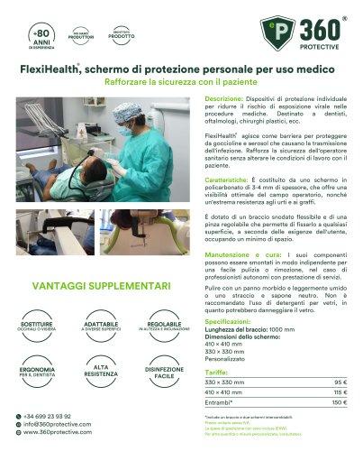 FlexiHealth, schermo di protezione personale per uso medico