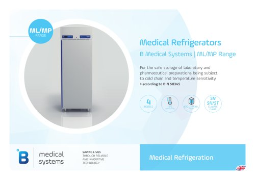 Medical Refrigerators B Medical Systems | ML/MP Range