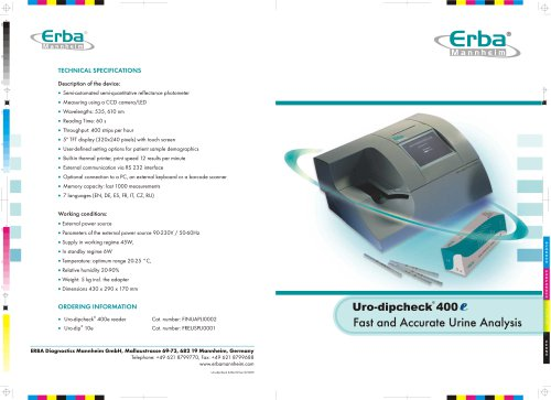 ERBA URO-DIPCHECK 400 E